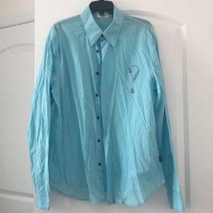 Moschino jeans button down shirt